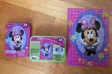 Disney Minnie Mouse Bow-tique Puzzle Tin Box Pink 24 pieces