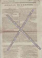 Journal de l'Empire du Dimanche 1er Février 1807. Imprimerie Le Normant.