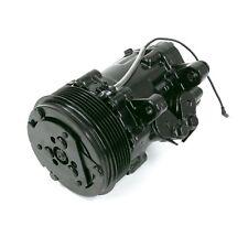 Black Mini AC Compressor - Sanden SD-7 Style - Serpentine Pulley #HC5005BK