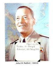 Arthur W Radford Autograph Admiral Chiefs Staff Chairman Commander Pacific #1