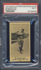 1916 M101-5 Sporting News #139 Walter Pipp PSA 7 New York Yankees