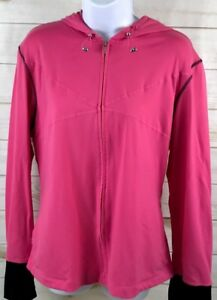 Calvin Klein Performance Women's Athletic Jacket Pink Size XL EUC A2619