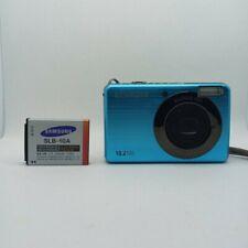 Samsung SL202 10MP 480P Digital Camera - Blue - Tested (Read Description)