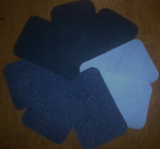 BIRCH IRON ON MENDERS 8 PATCHES REAIR PATCH MENDING FABRIC X 8 SKY NAVY DENIM