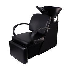 Backwash Shampoo Bowl Sink Chair Unit Station Beauty Spa Salon Equipment Black