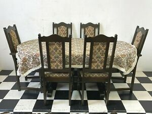 Wood Bros Old Charm oval extending dining table with six chairs - Delivery