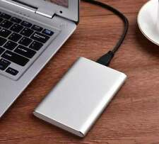 Slim Portable 2.5 Inch HDD SSD Enclosure USB3.0 Type-C Hard Disk Case Silver 1pc