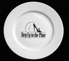 """6 Cordon Bleu Step Up to the Plate High Heel Shoes Blk/White 11"""" Ceramic Plates"""
