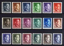GERMAN EMPIRE-Generalgouv.1941-42.WWII.NAZI Set ADOLF HITLER MNH** Michel 71-88A