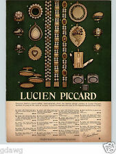 1966 PAPER AD Lucien Piccard Costume Jewelry Hand Crafted Braclet Rings