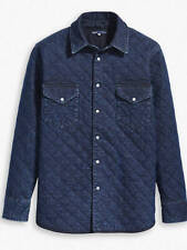 Levi's Made & Crafted Indigo Quilted Western Shirt sz M nwt 74826 0000