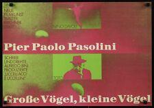 Falken und die Spatzen Deutsch A2 Filmposter Paolo Pasolini Hans Hillmann 1966