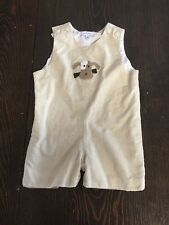 Petit Frere designer boys 2T yellow short all embroidered stitched puppies dogs