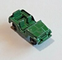 "Vintage TootsieToy Army Jeep Diecast Light Green Star 2 1/4"" Long USA 8525"