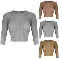 53567915f1094 Metallic Cropped Tops   Shirts for Women