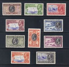 Cayman Is #85-94 1935-36 George V Pictorials SCV $90