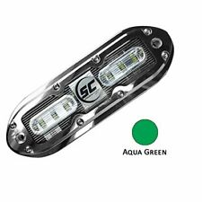 Shadow-Caster Scm-6 Led Underwater Light w/20' Cable - 316 Ss Housing - Aqua .