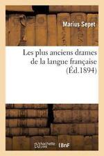 Les Plus Anciens Drames de la Langue Francaise by Sepet-M (2016, Paperback)
