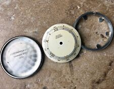 Vintage Bovet watch steel screw-back case 2-tone dial & movement ring 1940s/50s