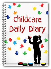 A5 DIARY EYFS CHILDCARE PROVIDER/CHILDMINDERS DAILY DIARY///