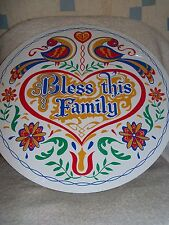 """CONESTOGA CRAFTS Hex Sign, 8"""" Bless This Family"""