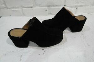 Lavorazione Artigiana SAN MARINA Paris Size 40 Italy Black Suede Goth Cosplay