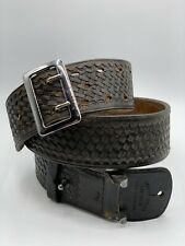 Black Brown Leather Safety Speed Holster Belt Montebello, CA Size 40