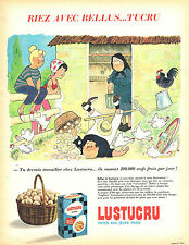 PUBLICITE ADVERTISING 025  1965  DESSIN  JEAN BELLUS   pour les PATES LUSTUCRU