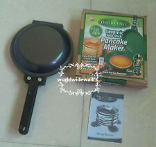 Flip Jack As Seen on TV ORGREENIC Ceramic Green NonStick Cookware Pan Cake maker