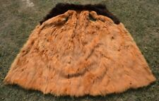 Real Red Fox Fur Sleeveless Coat Vest Size L Lining?