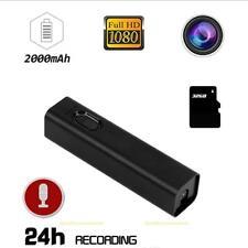 Mini WiFi 1080P HD Hidden Camera 2000mAh Power Bank Video Recorder Cam Black