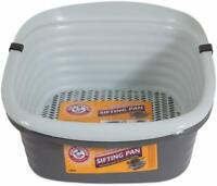 B0SIFTING CAT LITTER PAN Large 3 Part Pet Cleaning System Kitty Slotted Tray Box