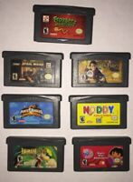 Lot Of (7) Nintendo Game Boy Advance GBA Authentic Assorted Games.