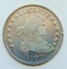 1800 Draped Bust Silver Dollar VF Condition - C8485