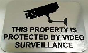 This Property Protected by Video Surveillance Sign Plaque CCTV Security Camera