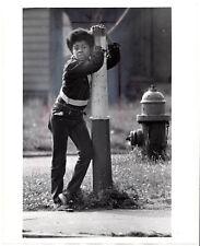 74' Detroit Free Press photo safety patrol,Joe Lippincott black African American