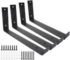 Wall Bracket Shelves 12 Inch 4PCS Heavy Duty Iron Metal Hardware Included Indoor