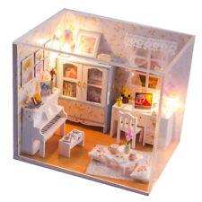 1:24 DIY Dollhouse Miniature Toy Wooden Dolls House Kit - Study & Music Room