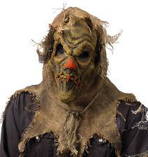 Scary Scarecrow  Latex & Burlap Sack Adult Halloween Mask