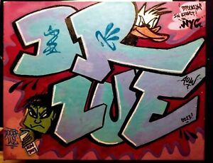Original graffiti art canvas