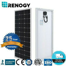 Renogy 100W Watt Solar Panel 12V 100W Monocrystalline RV Marine (Compact Design)