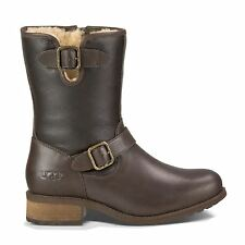 UGG Australia Zip 100% Leather Upper Shoes for Women