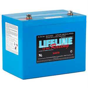 NEW AGM Lifeline LL-1640TB 16V 750CCA AGM Racing Series
