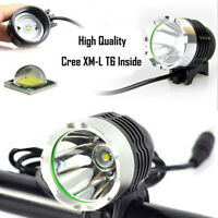Rechargeable 8000Lm XML T6 LED Bicycle Lamp Bike Headlight Front Head Light Kits