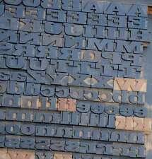 Letterpress Wood Printing Blocks 202pcs 106 Tall Wooden Type Woodtype Alphabet