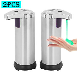 2 Pcs Touchless Handsfree Automatic Soap Dispenser Liquid Hand Sensor 280ml