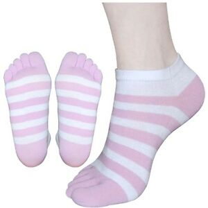 "5 Pairs Women Girls Low-Cut Toe Socks N02 ""Skin contact surface is 100% cotton"""