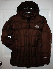 Girls The North Face Brown Transit 550 Down Parka Coat Size M 10-12