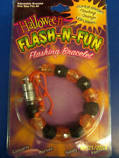 Pumpkins Halloween Carnival Light-Up Party Favor Jewelry Beads Flashing Bracelet