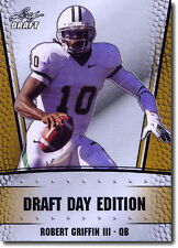 "ROBERT GRIFFIN III ""RG3"" 2012 LEAF DRAFT DAY ""GOLD"" LIMITED PROMO ROOKIE CARD!!"